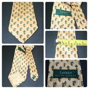 RALPH LAUREN 100% Silk Pineapple Necktie